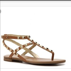 BCBGeneration Gloria Tan Stud Sandals